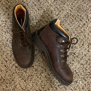 Brown leather Timberland boots size 7